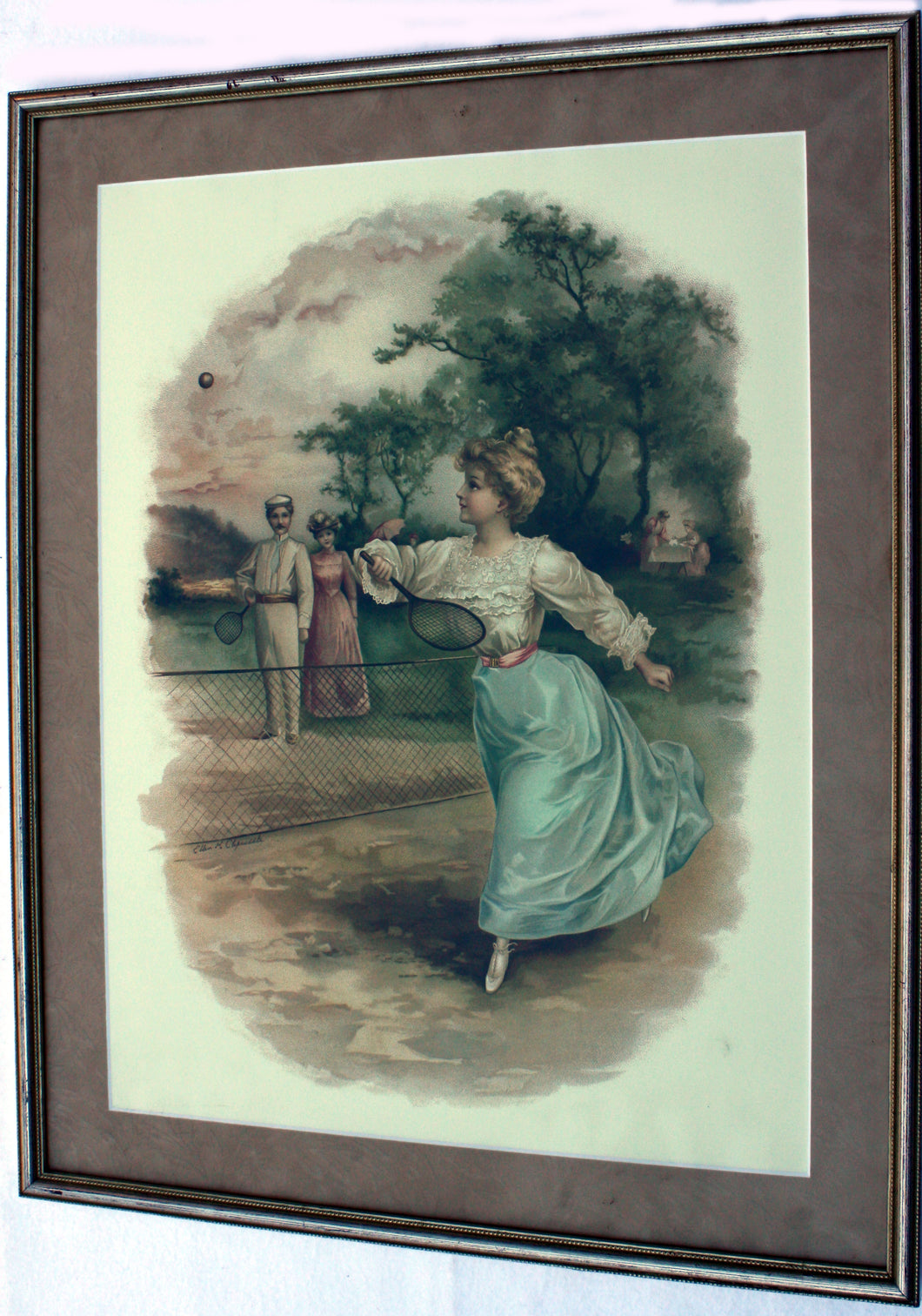 Lady Playing Tennis Print 1