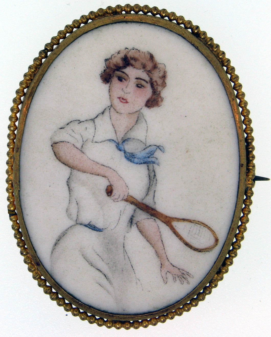 Painted Brooch