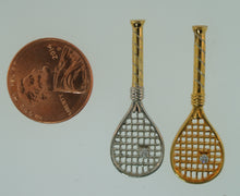 03 Tennis Racket Pendant - Gold Plated - #189E