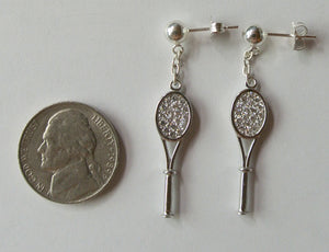 CZ Tennis Earrings