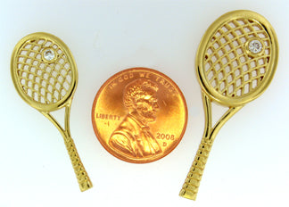 18A Tennis Racket Pendant - #180