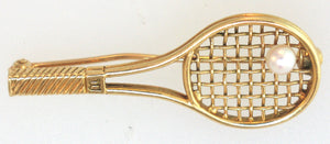 Wilson Racket Gold Pin