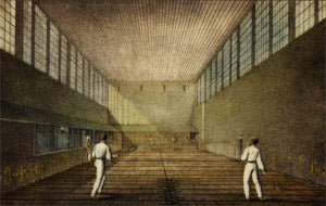 14 Tennis Art Print Court at Lord's - #354