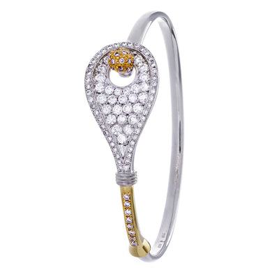 28 Tennis Racket Bracelet - Diamonds - #19