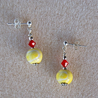 Tennis Ball Earrings and Pendant