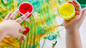 8 Benefits of Finger Painting (and how to do it without the mess!)