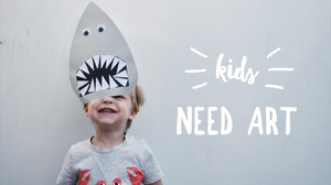 Shark head art. Why do kids need art?