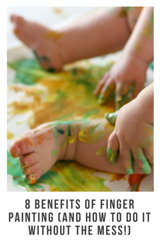 baby messy legs painting