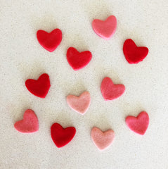 Little playdough hearts