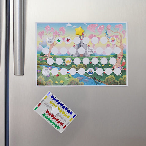 Sticker chart on the fridge
