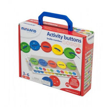 Load image into Gallery viewer, Miniland Aptitude Activity Buttons, 57 pcs