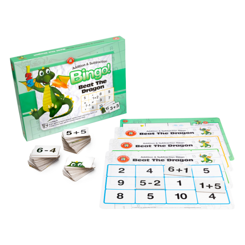 Beat The Dragon (Addition And Subtraction) Bingo