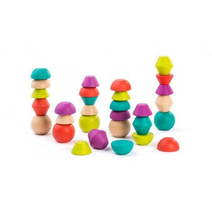 Miniland Aptitude Eco Wooden Towering Beads Set, 30 pcs