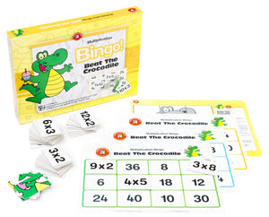Beat The Crocodile (Multiplication) Bingo