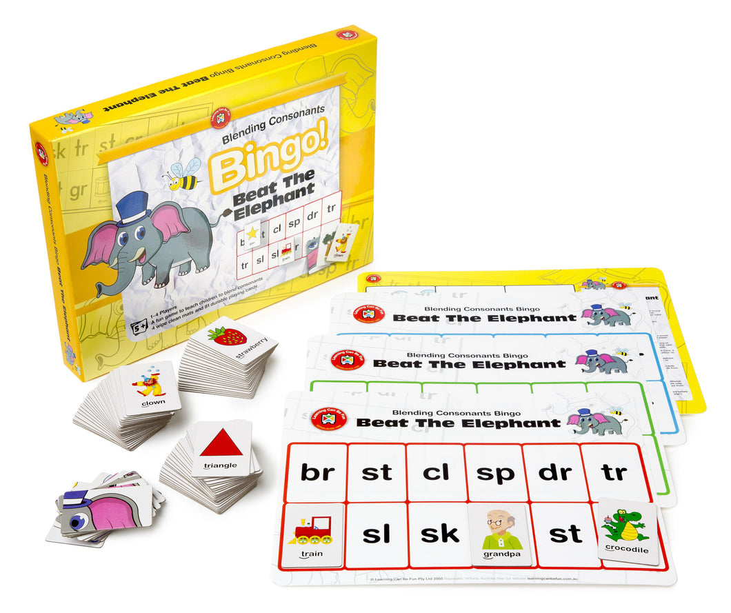 Beat the Elephant (Blending Consonants) Bingo