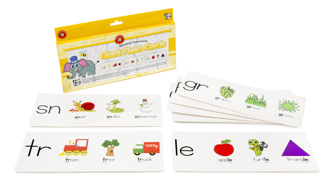Blending Consonants Giant Flashcards
