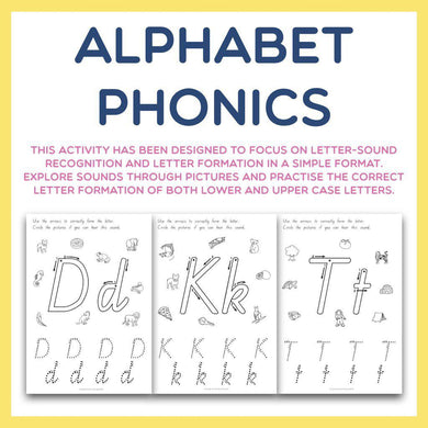 Alphabet Phonics - Letter Sounds and Formation