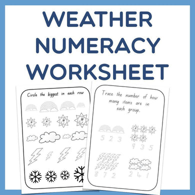 Numeracy Weather Worksheet