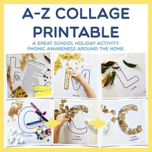 Load image into Gallery viewer, A-Z Letter Collage Printable