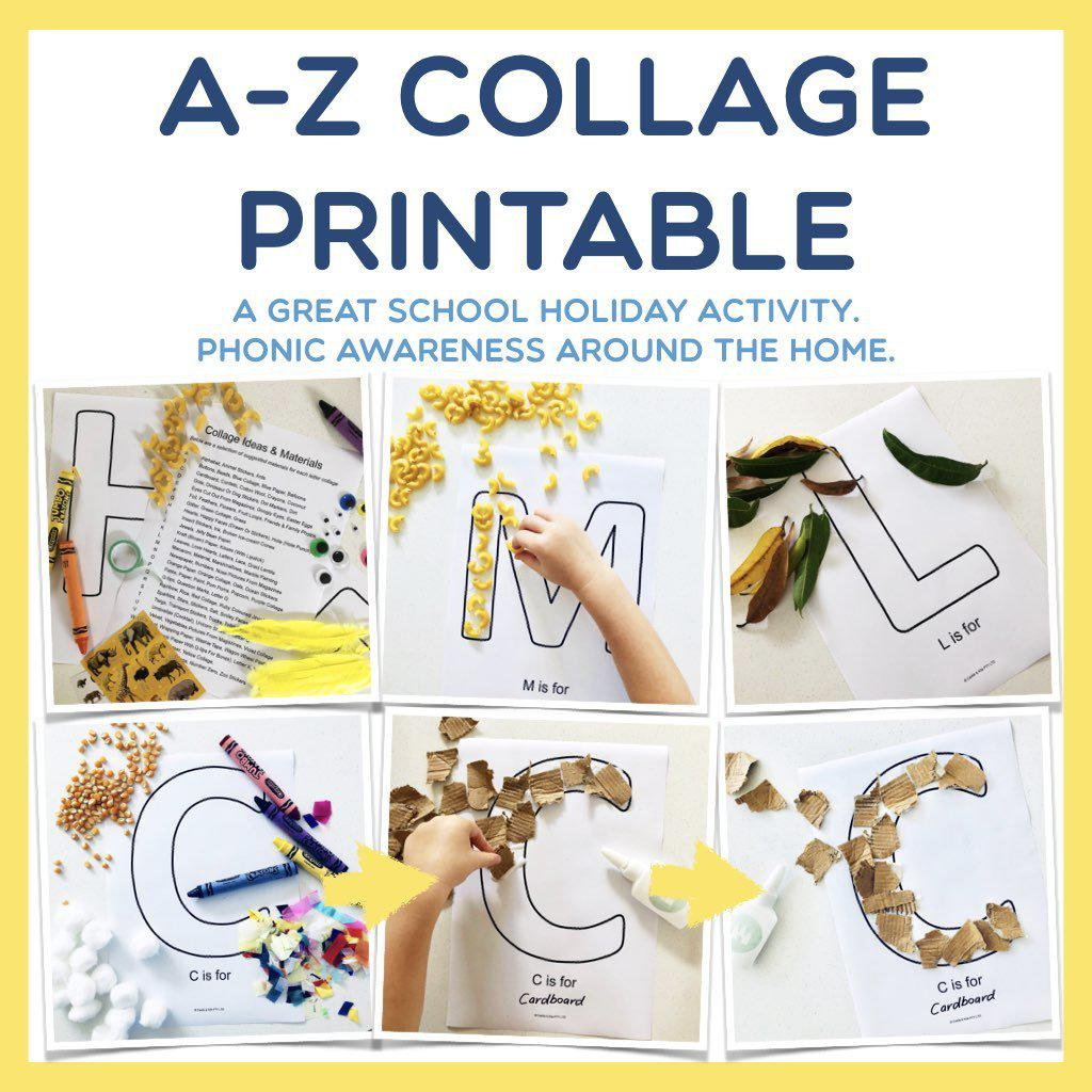 A-Z Letter Collage Printable