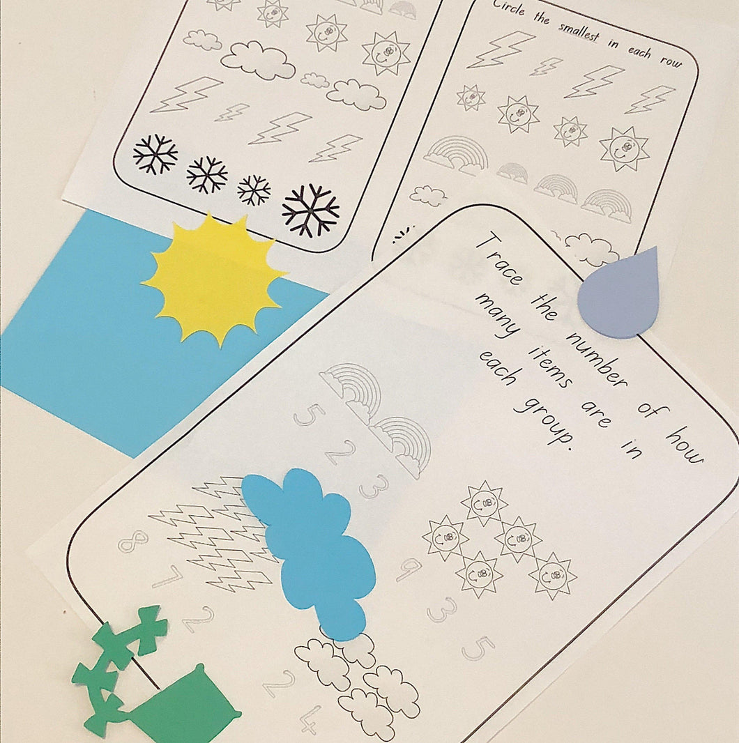 Numeracy Weather Worksheet - Castle & Kite