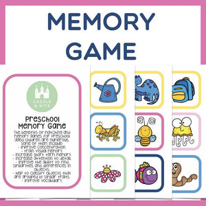 Preschool Match and Memory Game