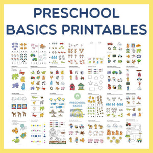 Preschool Basics Printables