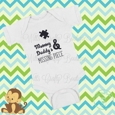 Mommy and Daddy's Missing Puzzle Piece Bodysuit Outfit