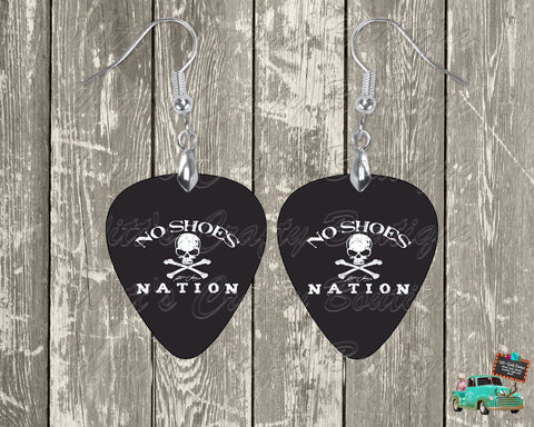 No Shoes Nation Guitar Pick Earrings