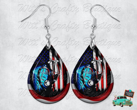Red, White and Blue American Nurse and Medical Earrings