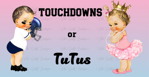 Touchdowns or Tutus Facebook Event Cover Download