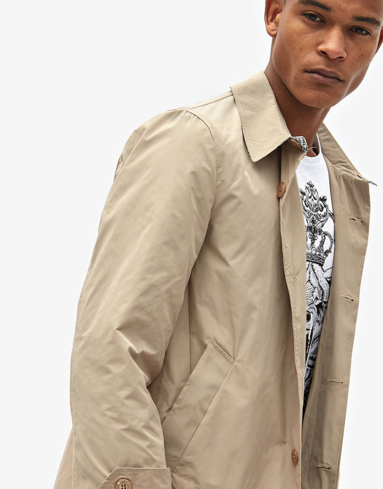 Cappotto trench beige