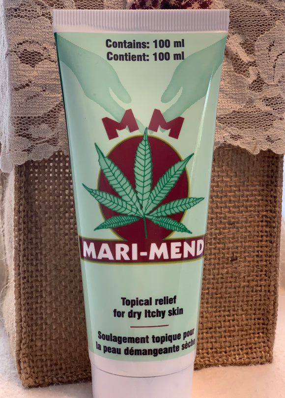 Mari-Mend Natural Topical Pain Cream With Hemp Seed Oil Skin Soothing