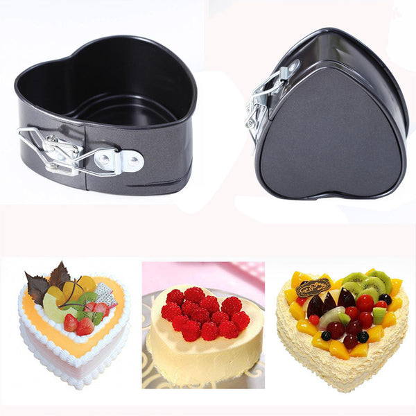 Non-Stick Love Heart Shape Cake Pan Tin DIY Cake Mold Baking Cheese Bread Tray