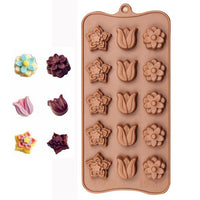 Diy Silicone Bakeware Stable 15 Holes Round Silicone Chocolate Mold Jelly Pudding Mold Silicone Ice Cube - Cdsm001