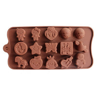 Diy Silicone Bakeware Stable 15 Holes Round Silicone Chocolate Mold Jelly Pudding Mold Silicone Ice Cube - Cdsm079