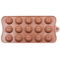 Diy Silicone Bakeware Stable 15 Holes Round Silicone Chocolate Mold Jelly Pudding Mold Silicone Ice Cube - Sicm 115 4