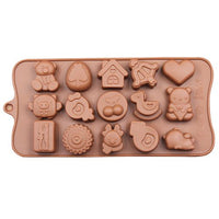 Diy Silicone Bakeware Stable 15 Holes Round Silicone Chocolate Mold Jelly Pudding Mold Silicone Ice Cube - Sicm 115 25