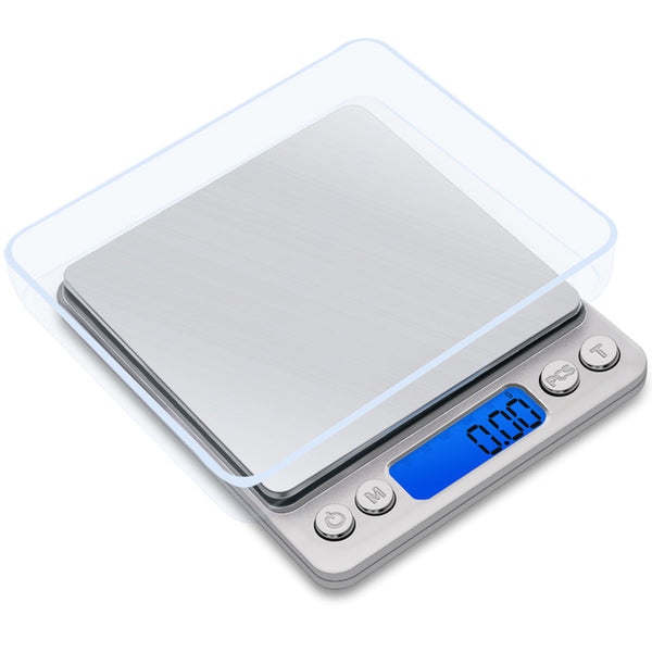 Gason Z1S Kitchen Scale Mini Pocket Portable Stainless Steel Precision Jewelry Electronic Balance Weight Gold Grams(3000Gx0.1G) - Z1S-3000G
