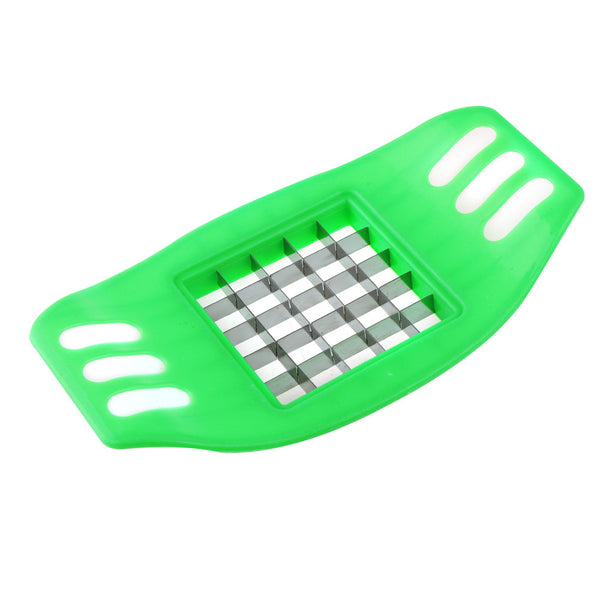 Stainless Steel French Fry Cutter Great Kitchen Tools Potato Cutter Manual Potato Cutter Kitchen Tools Vegetable Fruit Slicer - Green
