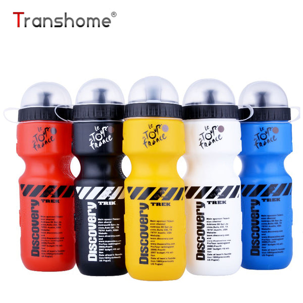 Transhome Drinkware Sports Water Bottle 650Ml Bicycle Bike Sports Drink Bottle For Water With Lid Plastic Portable Leak-Proof