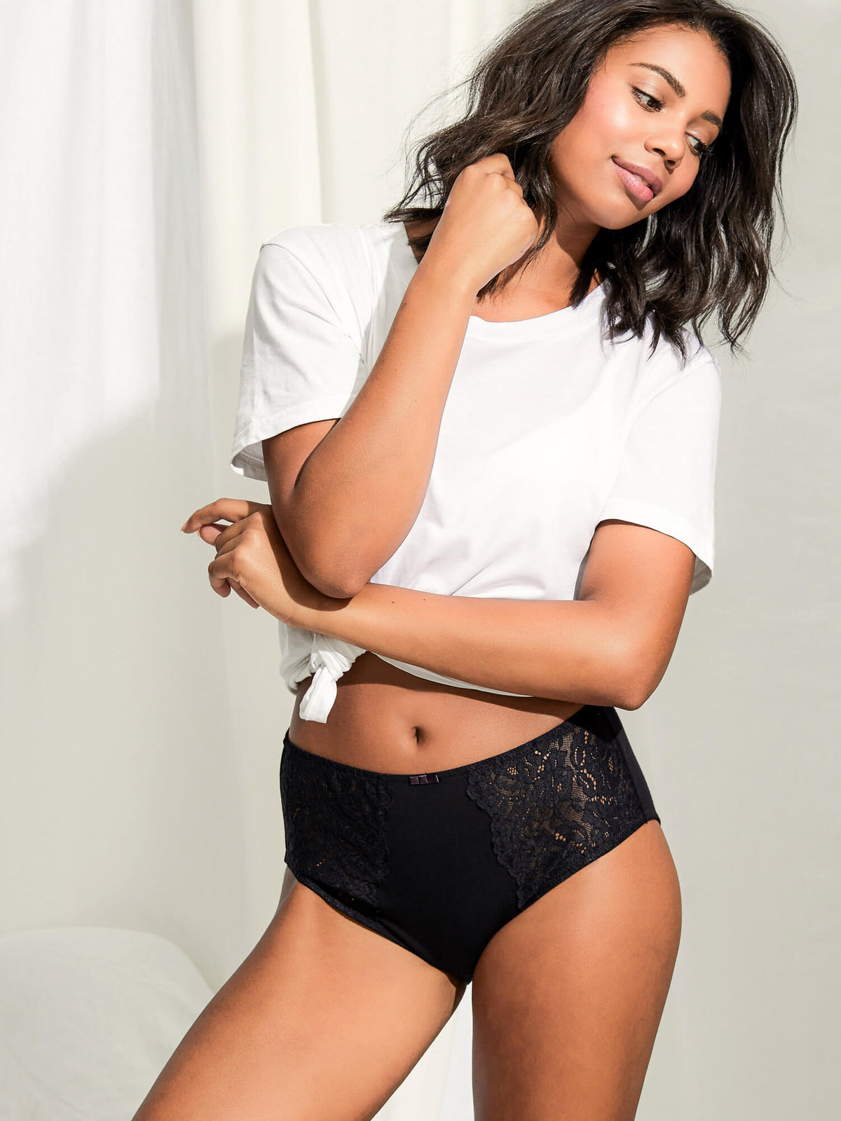 Daily Essentials Stretch Lace & Cotton Full Brief (219)