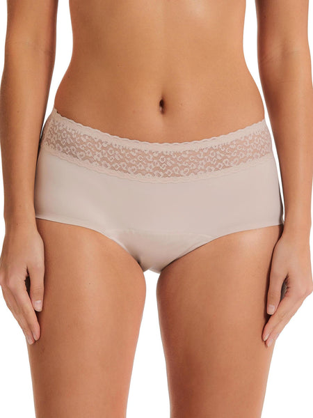 Blush Lace Top Absorbency Boyleg