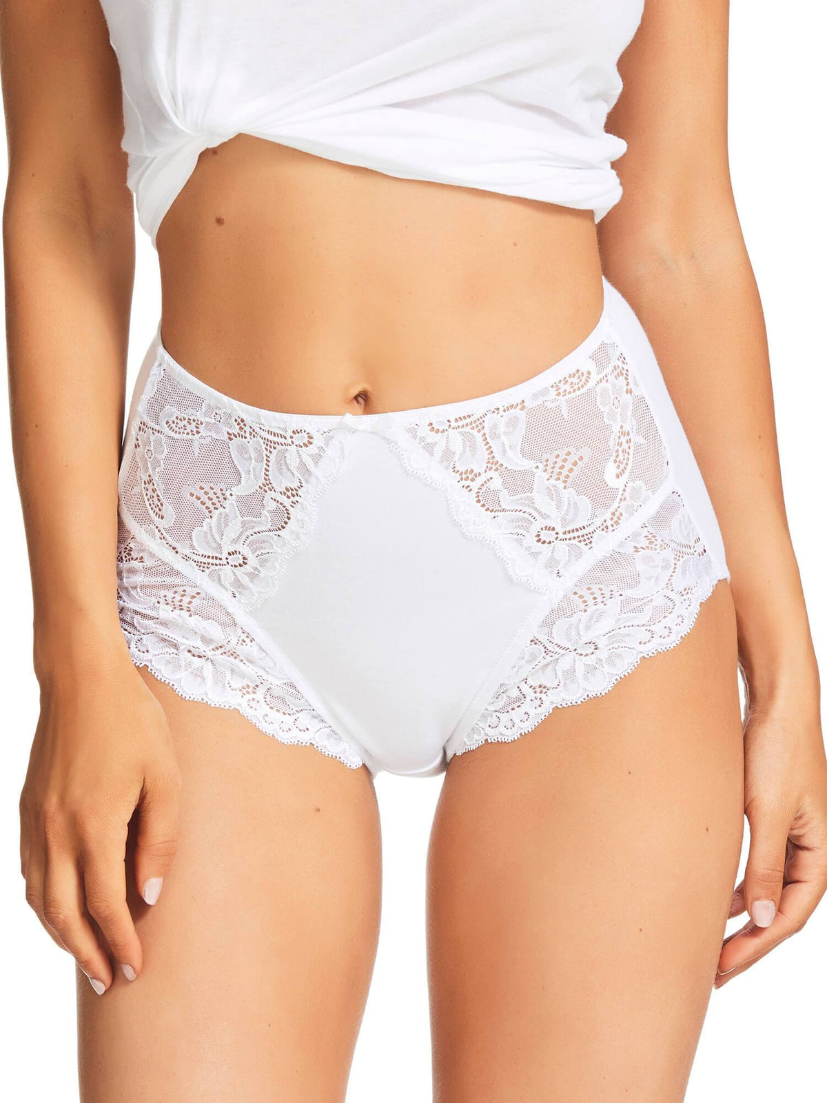 Daily Essentials Classic Lace Full Brief (218)