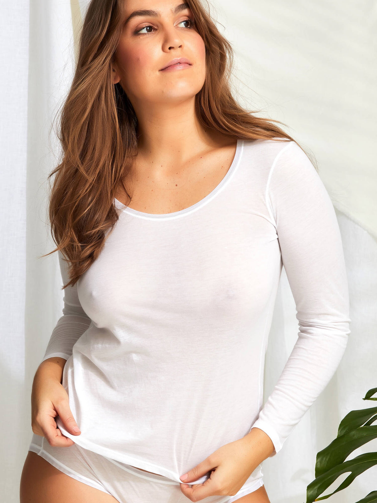 Pure Cotton Long Sleeve Top