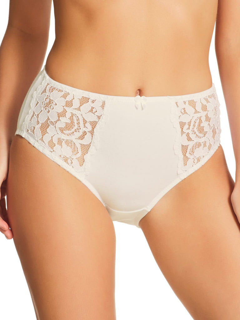 Stretch Cotton & Lace Full Brief (219)