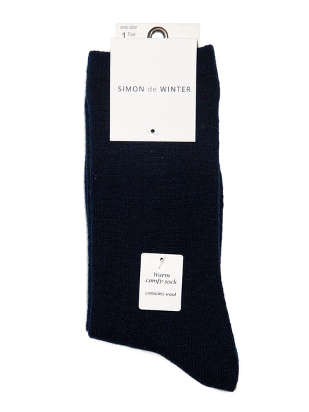 Ladies Plain Wool Blend Crew Sock