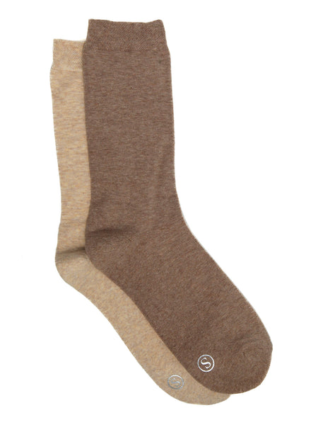 2 Pack Ladies Cushion Foot Crew Socks