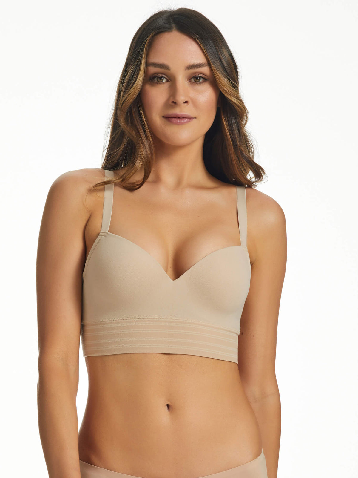 Seamless Wirefree Long Line Bra - BYS015