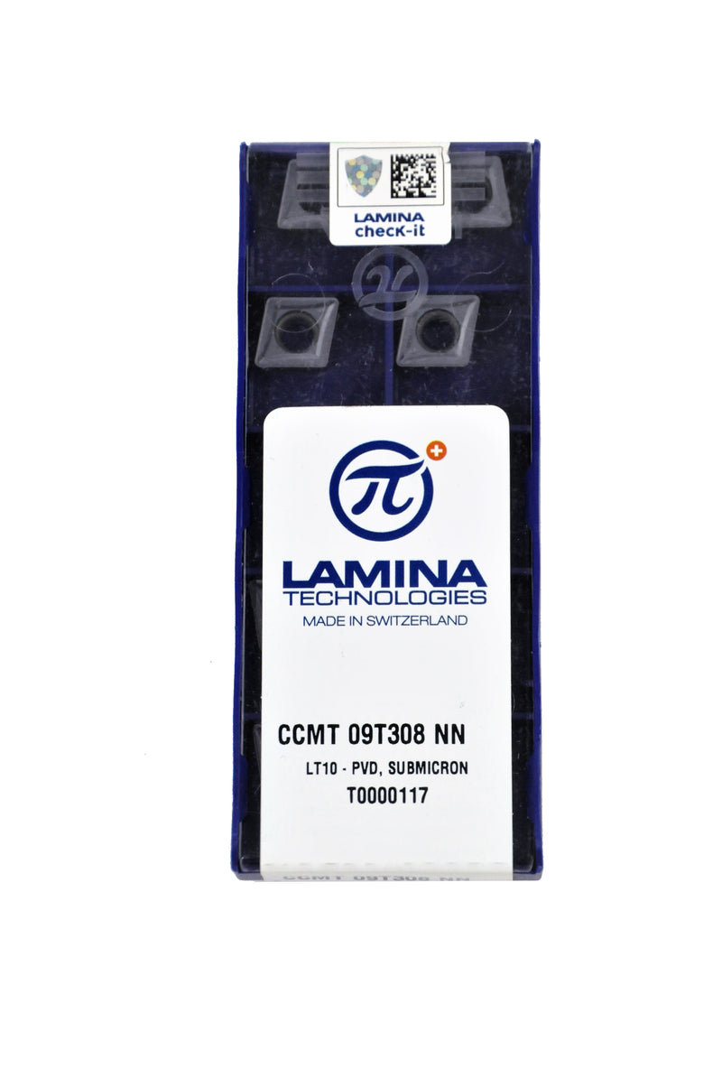 Lamina - Insert Ccmt 09T308 Nn Lt10 (Suitable For All Materials) (Pk Of 10)